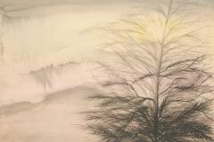 Dinora-Doudtchitzky.-Pino-en-la-niebla-acuarela-sobre-papel-37-x-265-cm.-Coleccion-particular