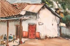 Israel-Roa-Casa-1986-acuarela-sobre-papel-35-x-50-cm.-Coleccion-particular