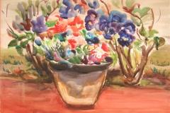 Israel-Roa.-Macetero-con-flores-acuarela-sobre-papel-35-x-50-cm.-Coleccion-particular